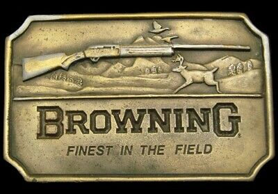 NH02134GREAT VINTAGE 1970s **BROWNING SHOTGUNS** FINEST IN THE FIELD BUCKLE