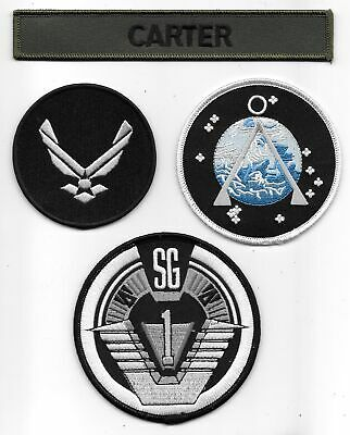 Stargate SG-1 Carter Uniform Logos Embroidered Patch Set of 4 NEW UNUSED