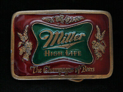 OA03145 VINTAGE 1970s **MILLER HIGH LIFE THE CHAMPAGNE OF BEERS** BOOZE BUCKLE