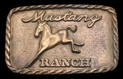 Oc10178 Great Vintage 1976 ***Mustang Ranch*** Nevada Brothel Whore House Buckle