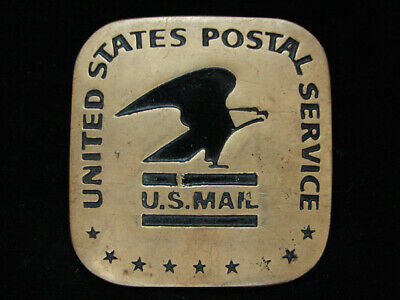OA11130 VINTAGE 1970s **UNITED STATES POSTAL SERVICE** SOLID BRASS BARON BUCKLE