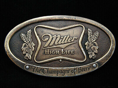 Ni13136 Vintage 1975 **Miller High Life The Champagne Of Beers** Bergamot Buckle