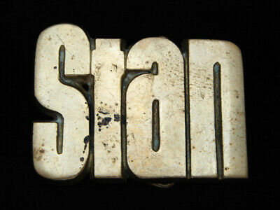 Oc13151 Vintage 1978 Cut-Out Name **Stan** Solid Brass Baron Belt Buckle