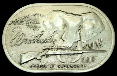 Ob02119 Awesome Vintage **Weatherby** Big Game Rifle Polished Solid Brass Buckle