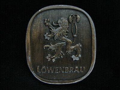Oa09121 Vintage 1975 **Lowenbrau** Miller Brewing Co. Beer Bergamot Belt Buckle