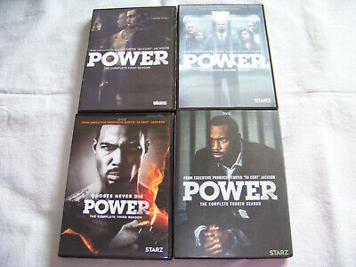 Power: The Complete Series DVD Seasons 1-4 FREE SHIPPING 1 2 3 4