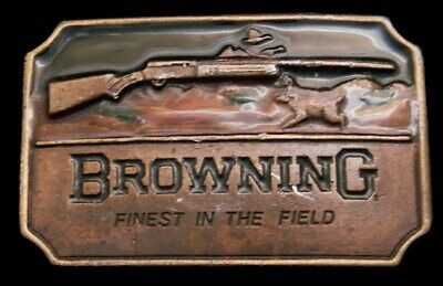 OE20153 GREAT VINTAGE 1970s **BROWNING SHOTGUNS** FINEST IN THE FIELD BUCKLE