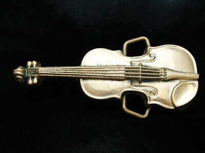 Od13147 Vintage 1978 Cut-Out **Violin** Music Solid Brass Baron Belt Buckle