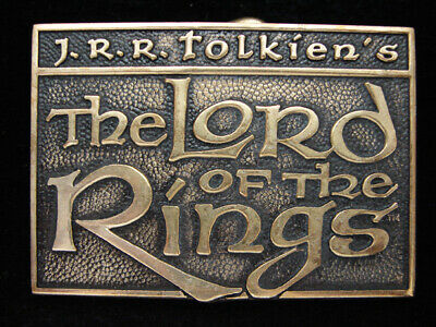 Oe23168 Vintage 1979 **The Lord Of The Rings** Solid Brass Bts Belt Buckle