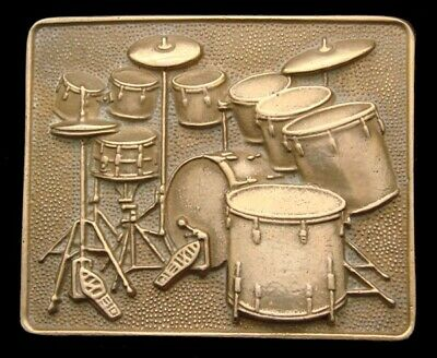 Of06116 Awesome Vintage 1980 Baron **Full Drum Kit** Drum Set Solid Brass Buckle