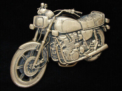 Od03144 Vintage 1978 Cut-Out **Motorcycle** Solid Brass Baron Belt Buckle