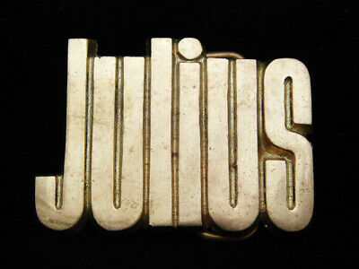 Oh09108 Vintage 1978 Cut-Out Name **Julius** Solid Brass Baron Belt Buckle