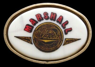 Oc26155 Vintage 1983 **Marshall Amplifiers** Electric Guitar Solid Brass Buckle