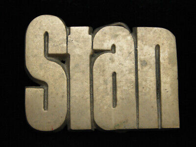 Og13123 Vintage 1978 Cut-Out Name **Stan** Solid Brass Baron Belt Buckle