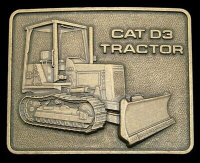 OE30123 *NOS* VINTAGE 1970s **CAT D3 TRACTOR** CATERPILLAR BULLDOZER BELT BUCKLE