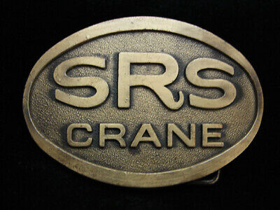 OH05139 *NOS* VINTAGE 1970s **SRS CRANE** HEAVY MACHINERY COMPANY BELT BUCKLE