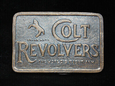 OG09130 *NOS* VINTAGE 1970s **COLT REVOLVERS THE WORLDS RIGHT ARM** BELT BUCKLE