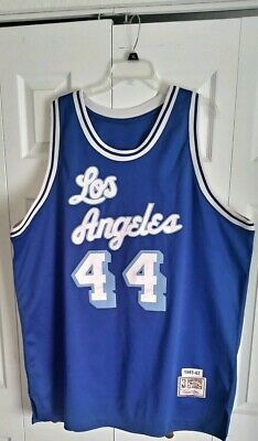 400ef02df0b MITCHELL   NESS 1961-62 NBA LOS ANGELES LAKERS JERRY WEST  44 JERSEY Size