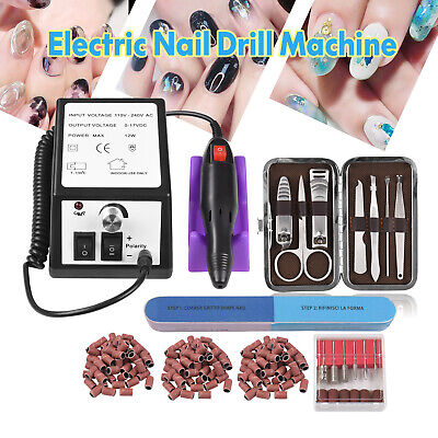 Electric Nail Drill Machine Acrylic Art Manicure Pedicure Hand Toe Nail Tool AU