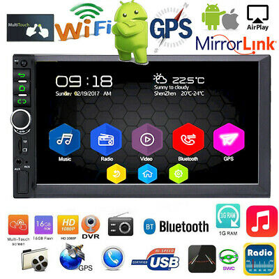 Android 8.1 GPS Navi Car Stereo MP5 Player Radio WIFI 2Din 7in Touch Quad Core