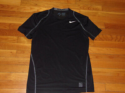 288f98ed Nike Pro Dri-Fit Short Sleeve Black Fitted Jersey Mens Medium Excellent