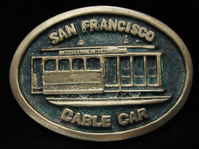 Oi01154 Vintage 1978 **San Francisco Cable Car** Solid Brass Bts Belt Buckle