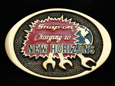 OJ13134 *NOS* VINTAGE 1970s **SNAP-ON** TOOLS COMPANY SOLID BRASS BTS BUCKLE