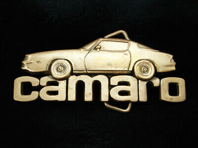 Oh15155 Vintage 1980 Cut-Out **Camaro** Sports Car Solid Brass Baron Belt Buckle
