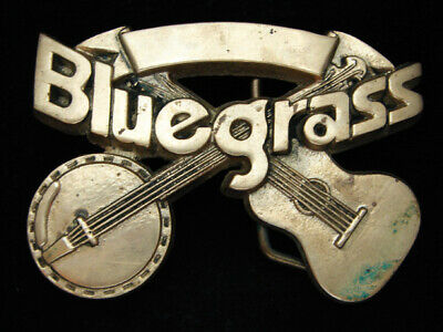 Oi11146 Vintage 1980 **Bluegrass Music** Commemorative Solid Brass Baron Buckle
