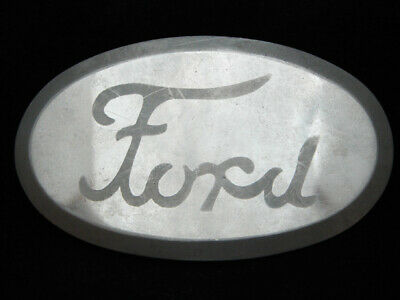 OI27163 VERY COOL VINTAGE 1970s **FORD** MOTOR COMPANY SILVERTONE BELT BUCKLE