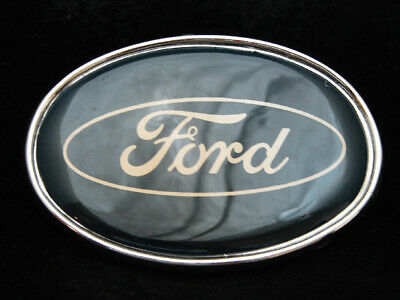 OI17117 VINTAGE 1970s **FORD** MOTOR COMPANY SILVERTONE BELT BUCKLE