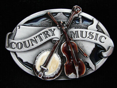 Oi15131 Vintage 1984 **Country Music** Commemorative Pewter Siskiyou Belt Buckle