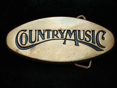 OI11148 VINTAGE 1970s **COUNTRY MUSIC** COMMEMORATIVE SOLID BRASS BARON BUCKLE