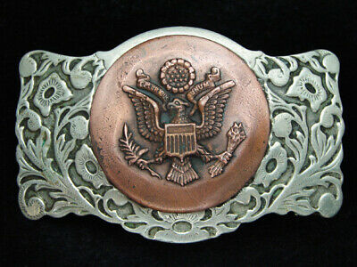 PB09152 VINTAGE 1970s **SEAL OF THE UNITED STATES** PATRIOTIC BELT BUCKLE