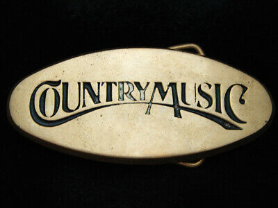 OI11149 VINTAGE 1970s **COUNTRY MUSIC** COMMEMORATIVE SOLID BRASS BARON BUCKLE