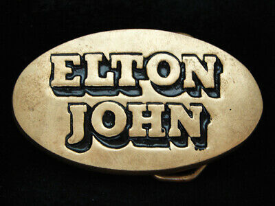 Oi15170 Vintage 1978 **Elton John** Music Commemorative Solid Brass Baron Buckle