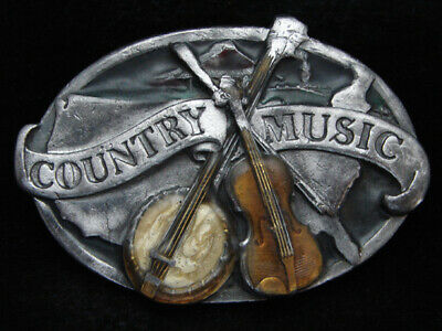 Pb07105 Vintage 1984 **Country Music** Commemorative Pewter Siskiyou Belt Buckle