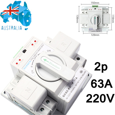 Dual Power Automatic Transfer Switch 220V 63A 2P 50Hz/ 60Hz AU STOCK No Postage