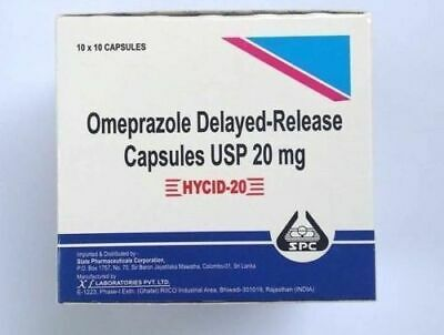 OTC HYCID OMEPRAZOLE 20mg *100  Acid Reducer Heart Burn Relief Treatment Free