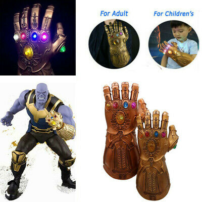 Thanos Gloves With LED Light For Avenge 3 Infinity War Infinity Gauntlet Cosplay