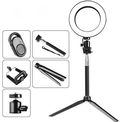 LED Ring Light Kit USB Fill-in Light Ring Selfie Stick 3-Light Color For Makeup