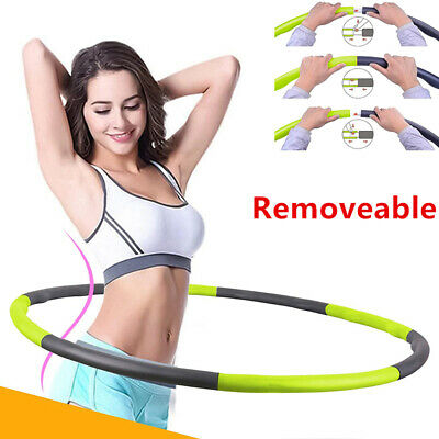 Collapsible 1Kg Weighted Hula Hoop Fitness Padded Abs Exercise Gym Workout Hoola