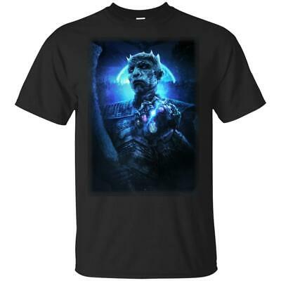 GAME OF THRONES T shirt THE ICE GAUNTLET Night Kings Black Navy Short Tee Men .