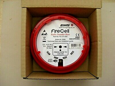 EMS Firecell FC-171-002 Radio Sounder Base (Red), £90 + vat,