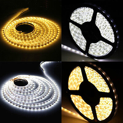 5M LED Strip Stripe Streifen Leiste Lichterkette Rolle 60/M 120/M IP20 IP65 3528