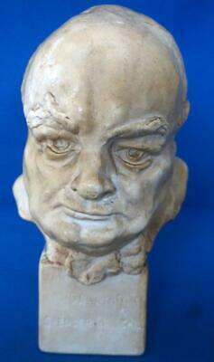 Sir Winston Churchill Political Commemorative  Bust Signed Jessie Borthwick