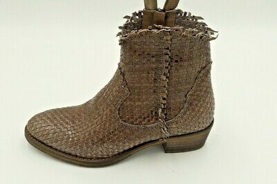 Metisse - Ankle Boot Texano Leather Twisted -col Taupe -SS19- Discount 30%