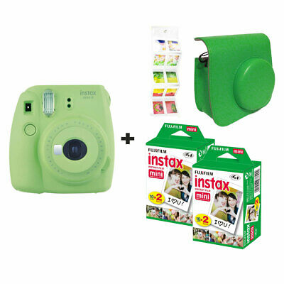 Fuji Fujifilm Instax Mini 9 Lime Green + 40 shots + Case + FREE Wall Album