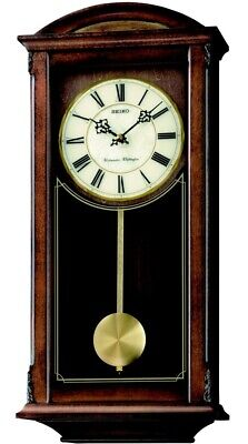Seiko Long Case Pendulum Chiming Wall Clock - QXH030B NEW