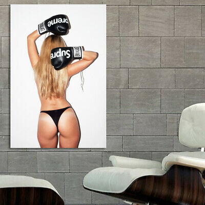 #17 Hypebeast Boxing Glove Girl Large Print Poster